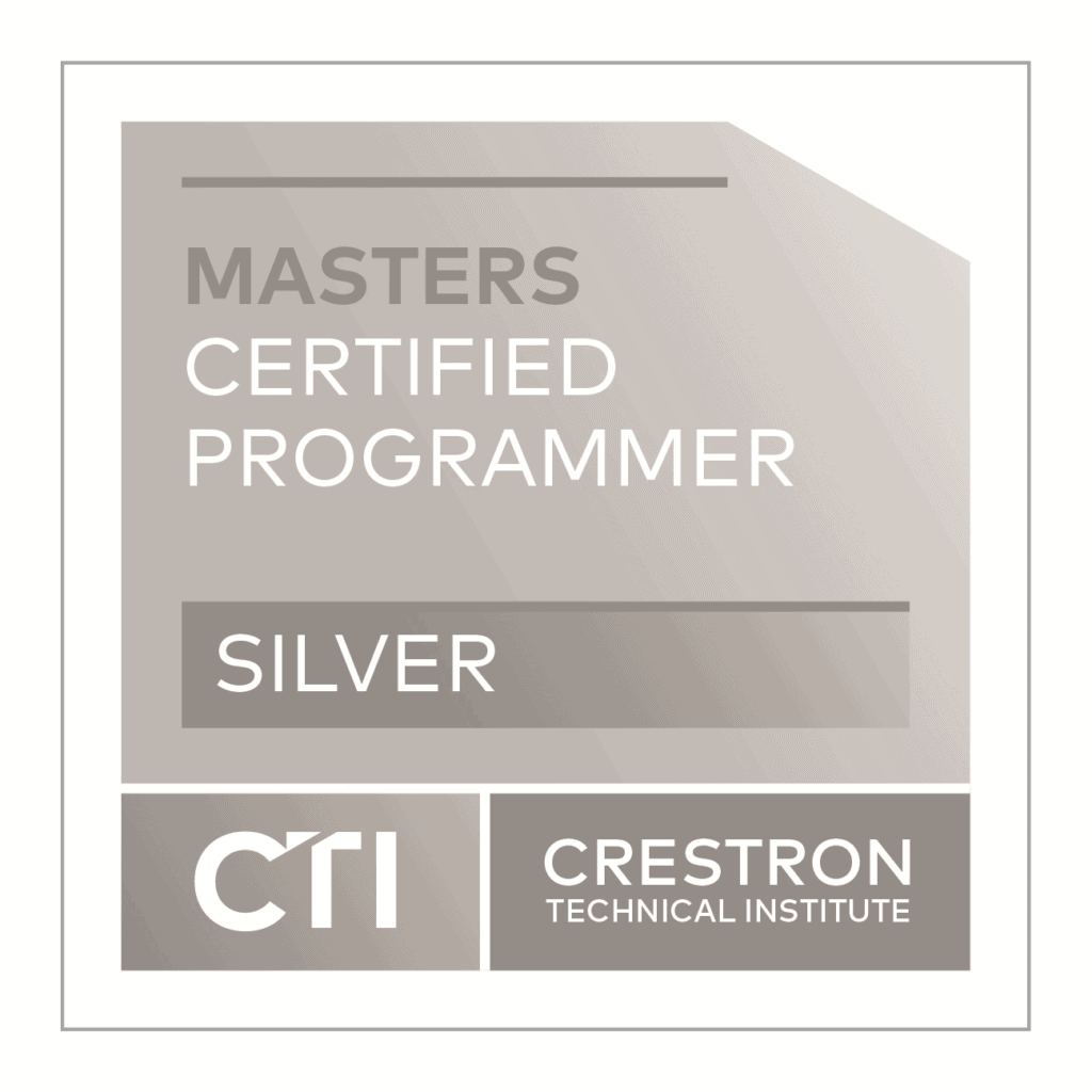 Crestron Masters Certified Programmer